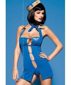 """Игровой костюм стюардессы Obsessive """"Air Hostess"""" S/M"""