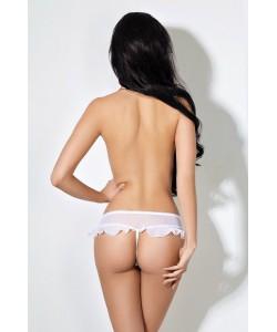 Завлекающие белые трусики с доступом и нежной юбочкой Le Frivole
