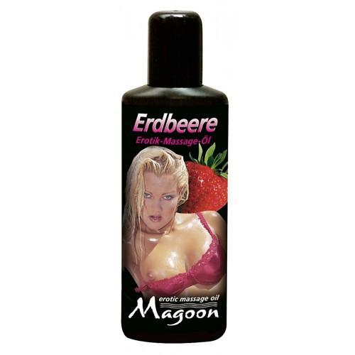 "Массажное масло Magoon ""Strawberry"", 100 мл"