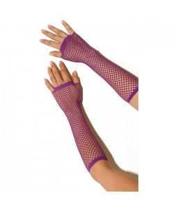 """Длинные перчатки-сетка """"Electric lingerie"""" Фиолетовые"""
