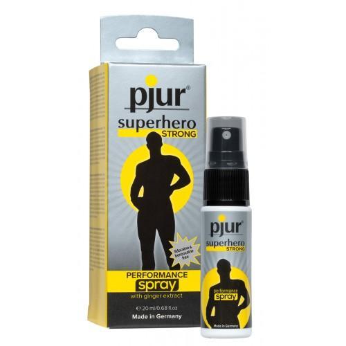 Мужской спрей-пролонгатор с экстрактом имбиря PJUR superhero STRONG performance spray 20 мл