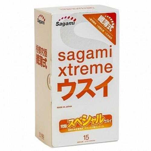 """Ультратонкие презервативы Sagami Xtreme """"004"""" №15"""