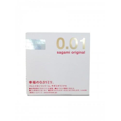 """Полиуретановые презервативы Sagami Original """"001"""" 1 шт."""