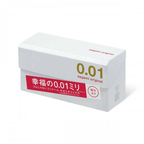 """Полиуретановые презервативы Sagami Original """"001"""" 10 шт."""