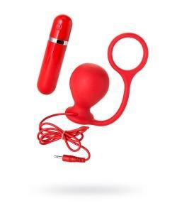 Анальная вибровтулка с кольцом MENZSTUFF ASS CORK WIDE RED