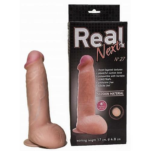 "Реалистичный фаллоимитатор Lovetoy ""Real Next №27"" 20 х 4,8 см"