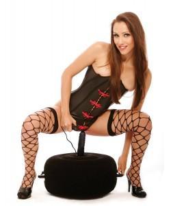 Надувная кушетка с виброфаллосом Inflatable Hot Seat