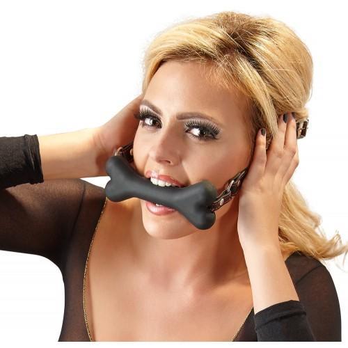 Силиконовый кляп-кость Bad Kitty 24920321001