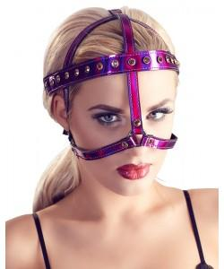 BDSM-Маска на лицо со стразами Bad Kitty