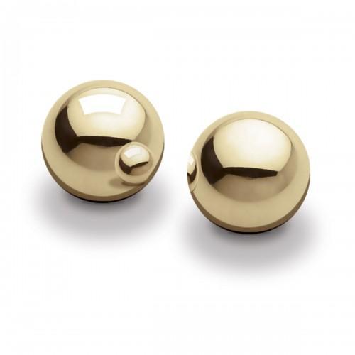 Металлические вагинальные шарики Pipedream Ben Wa Balls - Gold