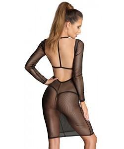 Прозрачное платье Noir S
