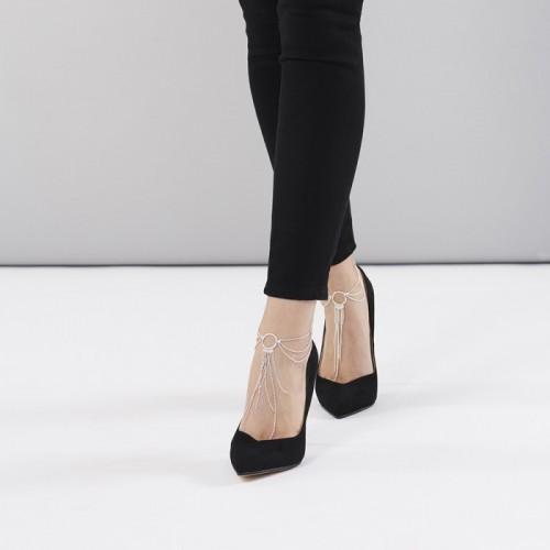 Bijoux Indiscrets Браслет на ногу Magnifique Feet Chain серебряные
