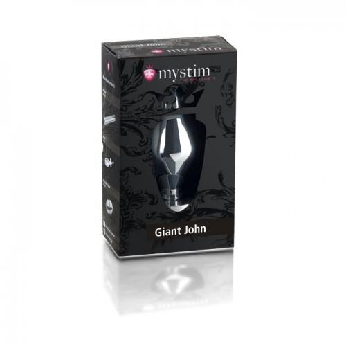"""Огромная анальная пробка с электростимуляцией Mystim """"Giant John"""" XXL 46230"""