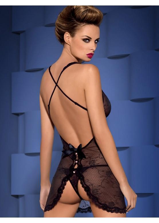 Купить Неглиже+стринги OBSESSIVE Fiorenta S/M 490400