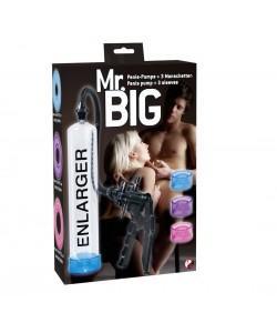 """Вакуумная помпа для пениса с 3 манжетами """"Mr.Big"""""""