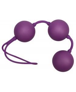 """Тройные вагинальные шарики """"Velvet Purple"""" 3,5 см"""