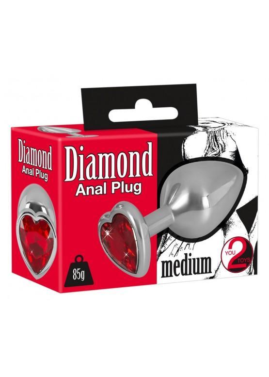 """Металлическая анальная пробка You2Toys """"Diamond Anal Plug"""" 5327890000"""