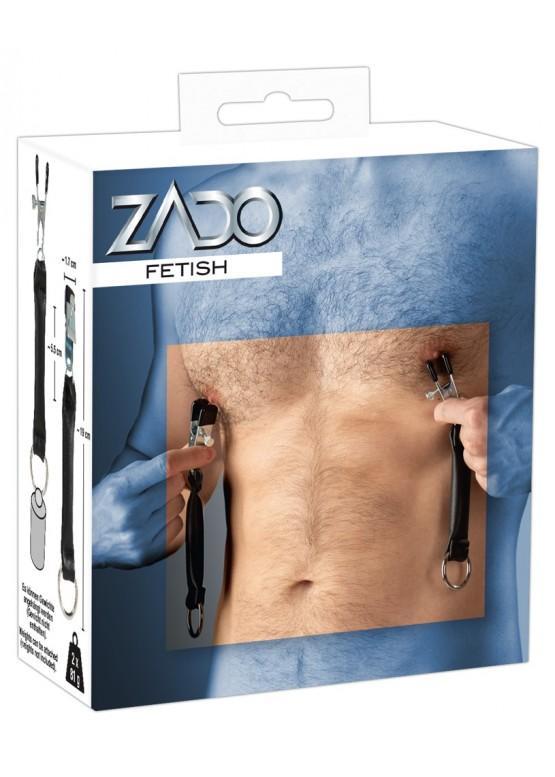 Зажимы для сосков с кожаными ремнями ZADO