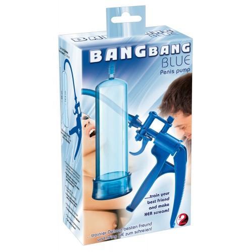 """Вакуумная помпа с пистолетом """"Bang Bang Blue"""""""