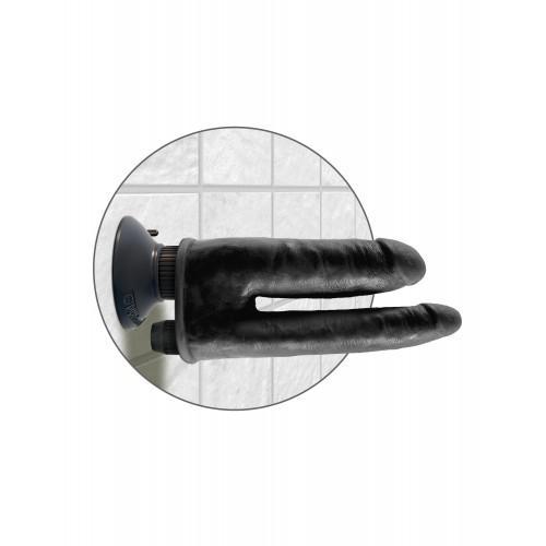 PipeDream King Cock Double Penetrator Вибратор реалистик на присоске двойной черный 541123
