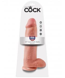 PipeDream King Cock Фаллоимитатор реалистик с мошонкой на присоске телесный 30,5 x 7,6