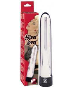 Серебристый классический вибратор Silver Lover 5517240000