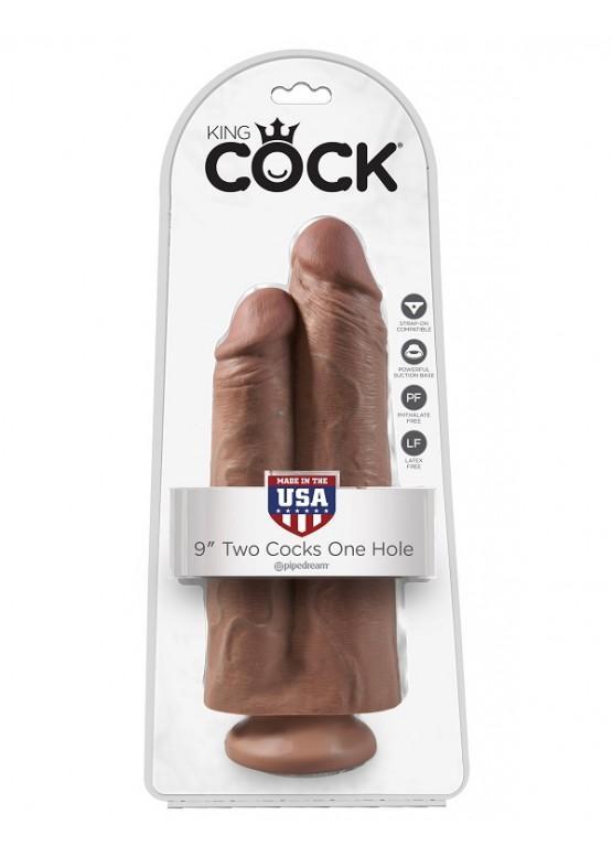 """Фаллоимитатор двойной на присоске PipeDream King Cock 9"""" Two Cocks One Hole 25 х 9,4 см 555122"""