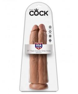 """Фаллоимитатор двойной на присоске PipeDream King Cock 11"""" 30 х 9,1 см 555221"""