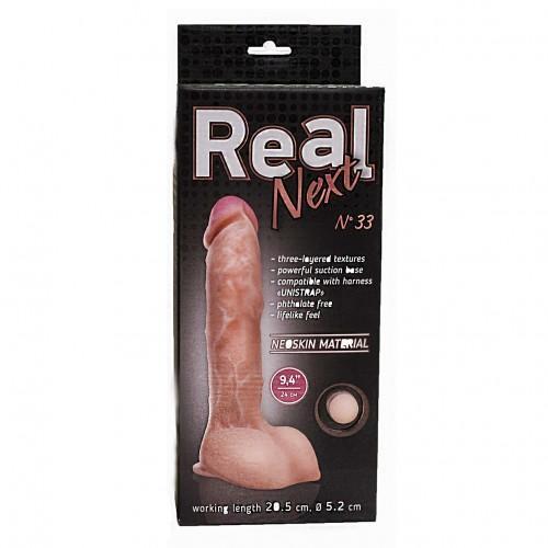"Реалистичный фаллоимитатор Lovetoy ""Real Next №33"" 24 х 5,2 см"