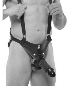 "Страпон на подтяжках ""King Cock 10"" Hollow Strap-On Suspender System"""