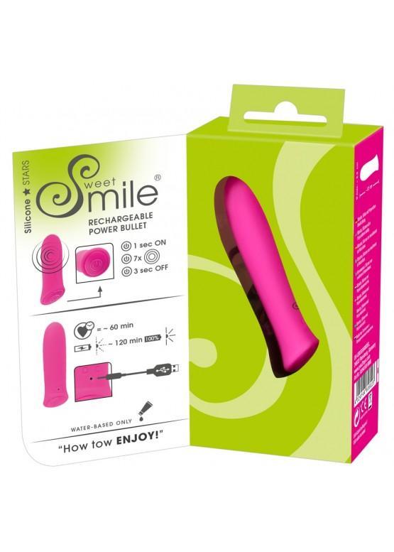 Перезаряжаемая вибропуля Smile Rechargeable Power 8,5 х 2,3 см