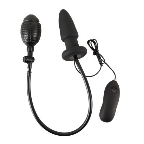 Анальная вибропробка с подкачкой Inflatable Vibrating Plug