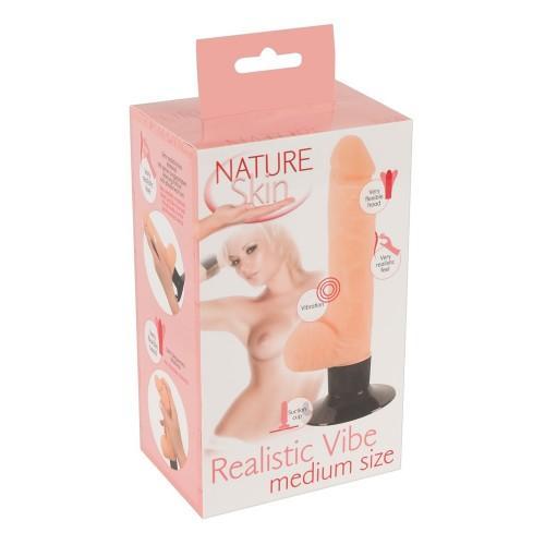 Вибратор на присоске Nature Skin Realistic Vibe M