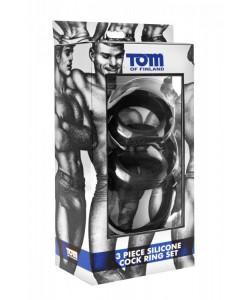 Набор из 3 эрекционных колец разного диаметра Tom of Finland