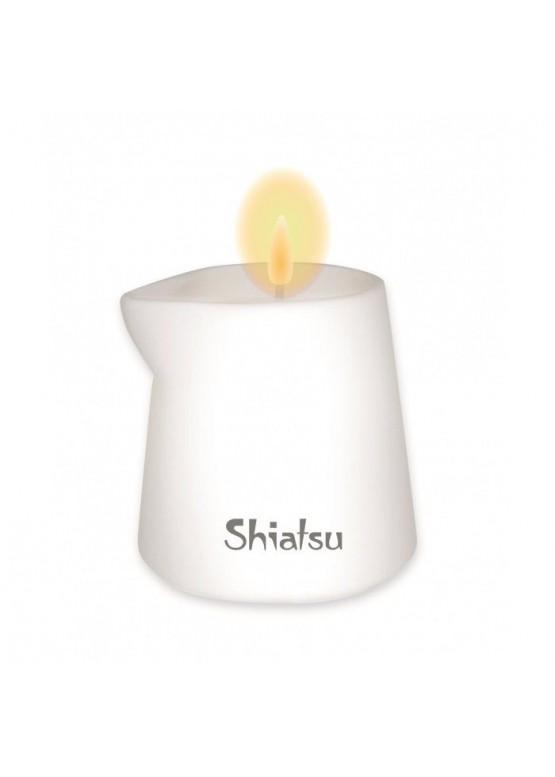 Массажная свеча с ароматом малины и ванильного крема Shiatsu 130 мл