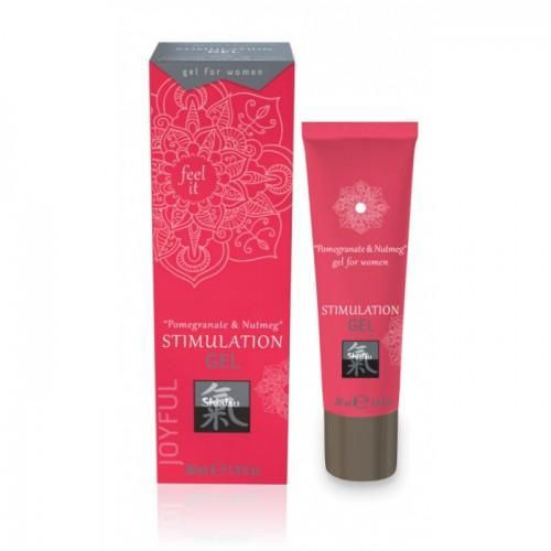 Интимный гель Джой Гранат и Мускатный орех, Шиатсу/Shiatsu STIMULATION GEL Pomegranate & Nutmeg for women, 30 мл