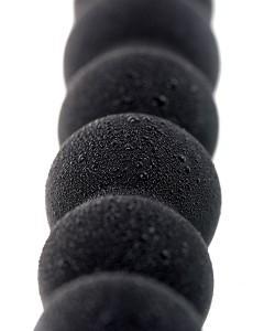 Черная анальная цепочка A-toys - 27,6 см.
