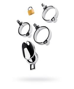 ПОЯС ВЕРНОСТИ TOYFA METAL с кольцами разного диаметра