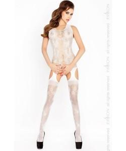 Очаровательный костюм-сетка с открытыми бёдрами PASSION S/L