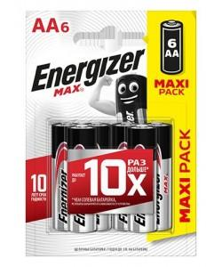 Батарейки ENERGIZER MAX LR-03 AA 6 штук