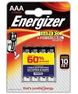 Батарейки ENERGIZER MAX LR-03 AAA 4 штуки