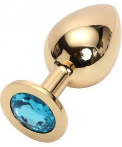 "Металлическая анальная пробка ""Jewelry Plug"" Large Gold"