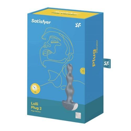 Анальная пробка с вибрацией Satisfyer Lolli Plug 2 Grey