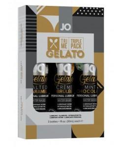 Подарочный набор вкусовых лубрикантов Tri-Me Triple Pack Gelato 3 x 30 мл