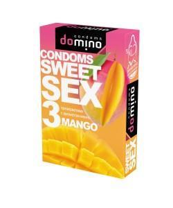 ОРАЛЬНЫЕ ПРЕЗЕРВАТИВЫ DOMINO SWEET SEX MANGO 3 шт.