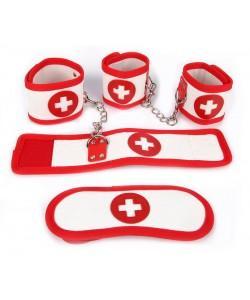 КОМПЛЕКТ (наручники, оковы, маска) PVC  NTB-80329
