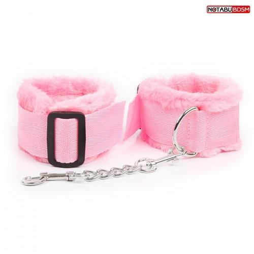 """Мягкие оковы с мехом """"Notabu"""" NTB-80576 Розовый"""