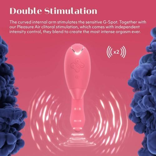 Бесконтактный клиторальный стимулятор с вибрацией Womanizer DUO Raspberry