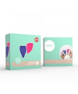 Fun Cup (А+А) Набор менструальных чаш, 2шт розовый/голубой