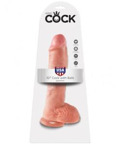 PipeDream King Cock Фаллоимитатор реалистик с мошонкой на присоске телесный 25,4 х 5,1 см